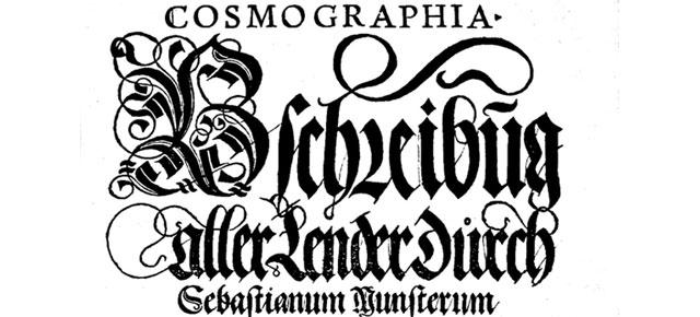 Die Cosmographia von Sebastian Münster