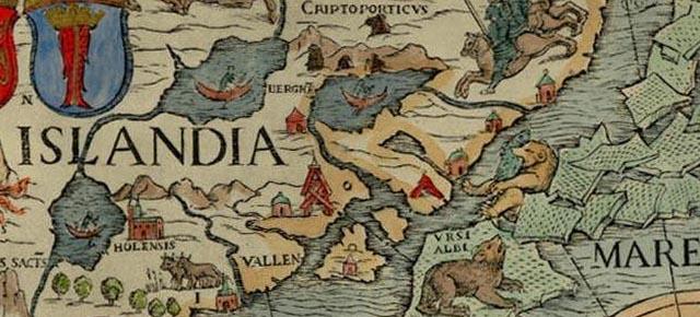 """Seemonster in der """"Cosmographia"""" und auf der """"Carta Marina"""""""